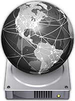 mac os x - disc globe icon